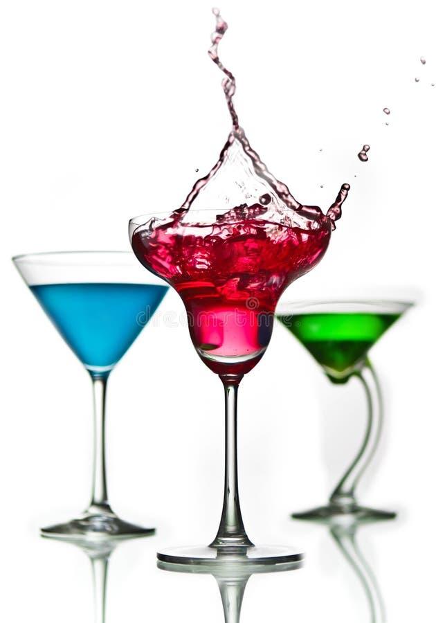 Respingo do cocktail fotografia de stock