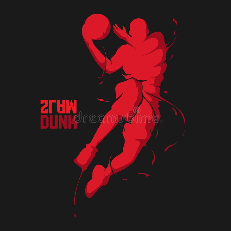 Respingo do jogador de basquetebol ilustração do vetor