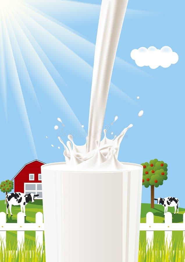 Respingo do leite ilustração stock