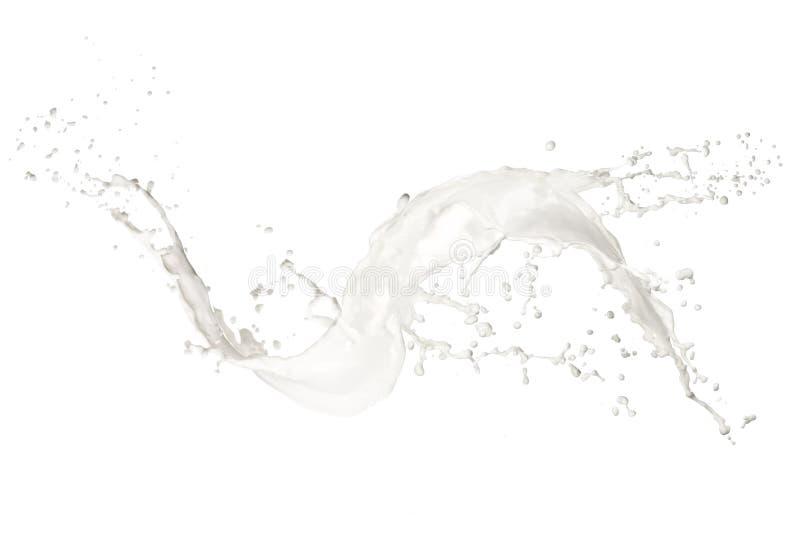Respingo do leite imagem de stock