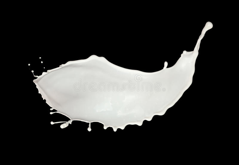 Respingo do leite fotos de stock