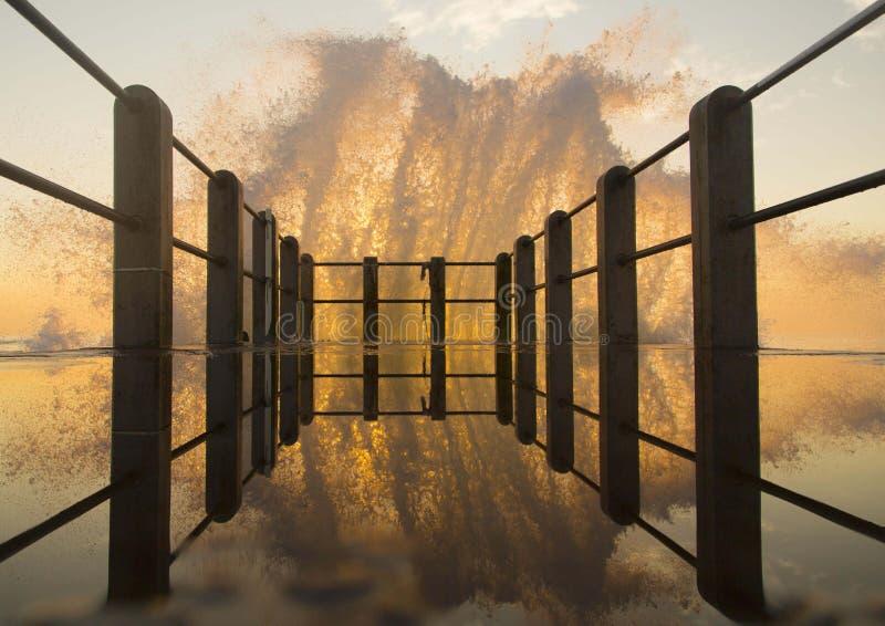 Respingo do nascer do sol fotografia de stock royalty free