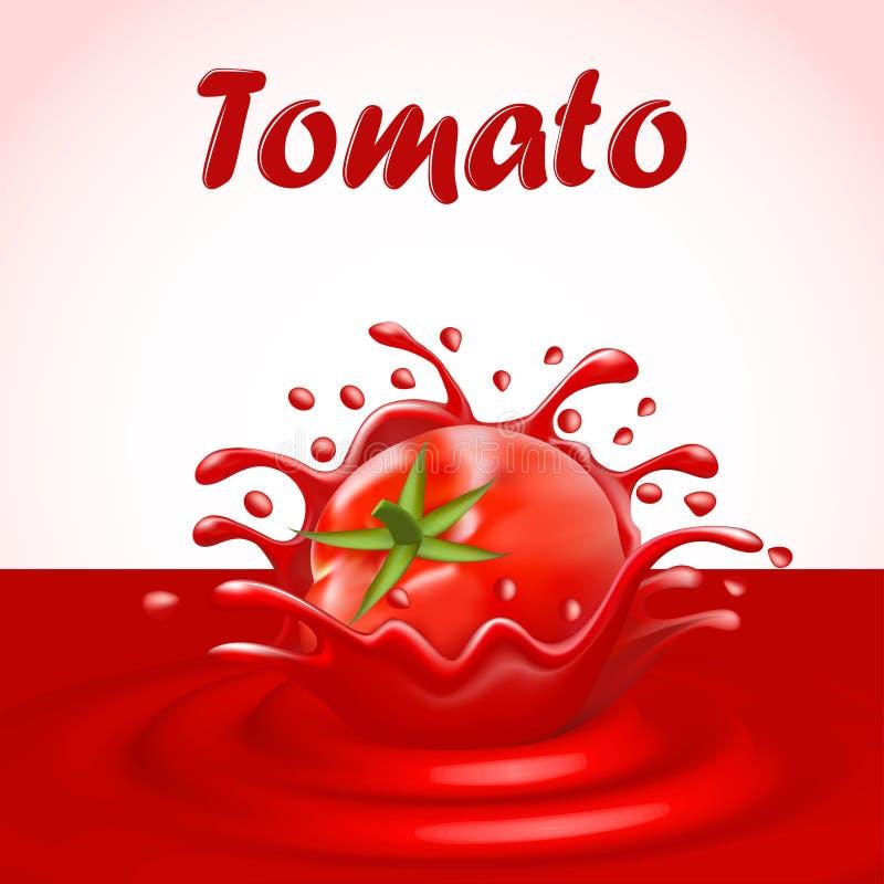 respingo do suco de um vegetal do tomate ilustração royalty free