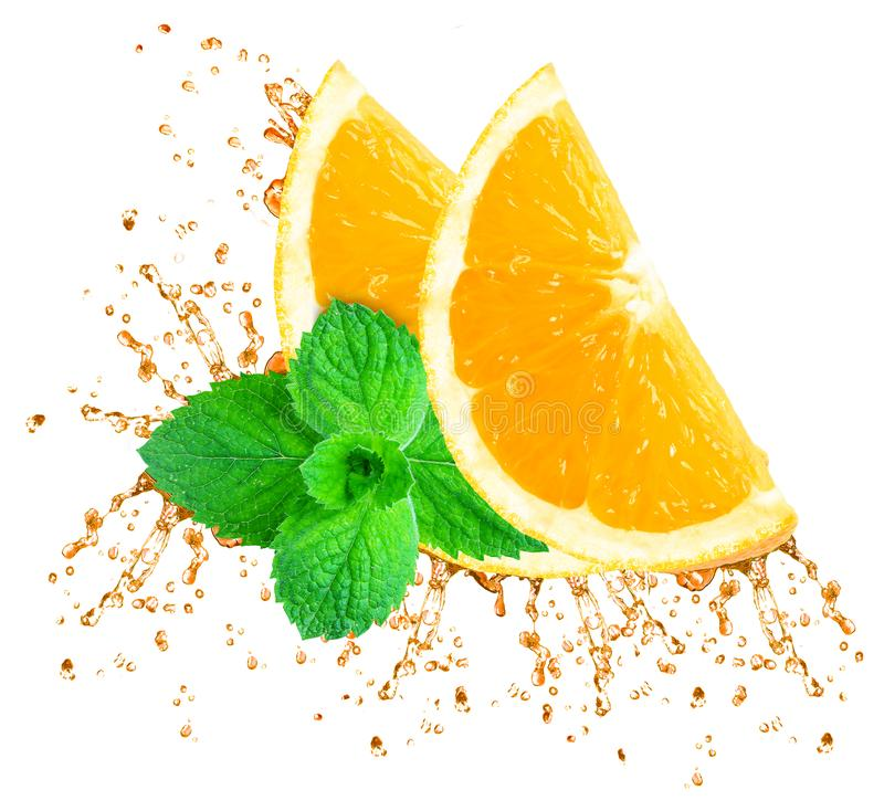 Respingo do sumo de laranja fotos de stock royalty free