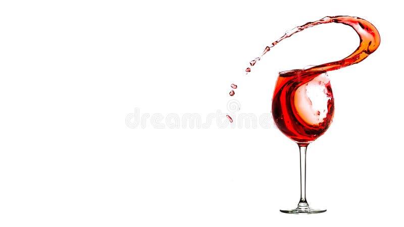 Respingo do vinho foto de stock