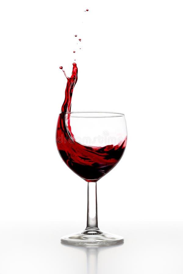 Respingo do vinho foto de stock royalty free