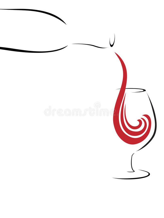 Respingo do vinho, abstrato ilustração royalty free