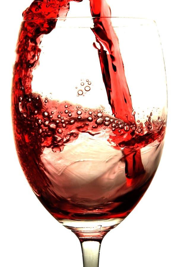 Respingo do vinho vermelho foto de stock royalty free