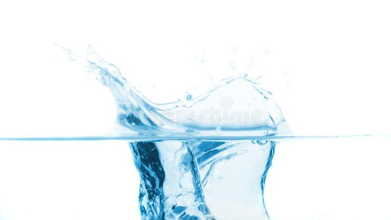Respingo na água azul imagem de stock