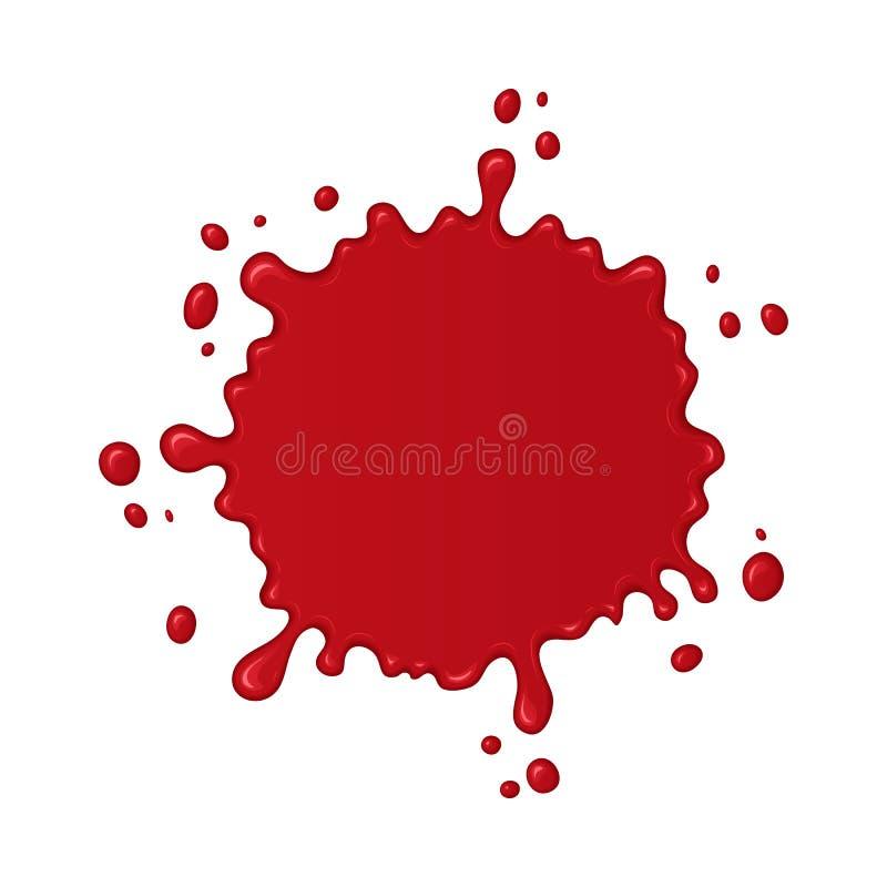 Respingo ou gota do sangue do vetor ilustração do vetor