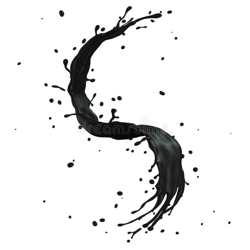 Respingo preto ilustração stock