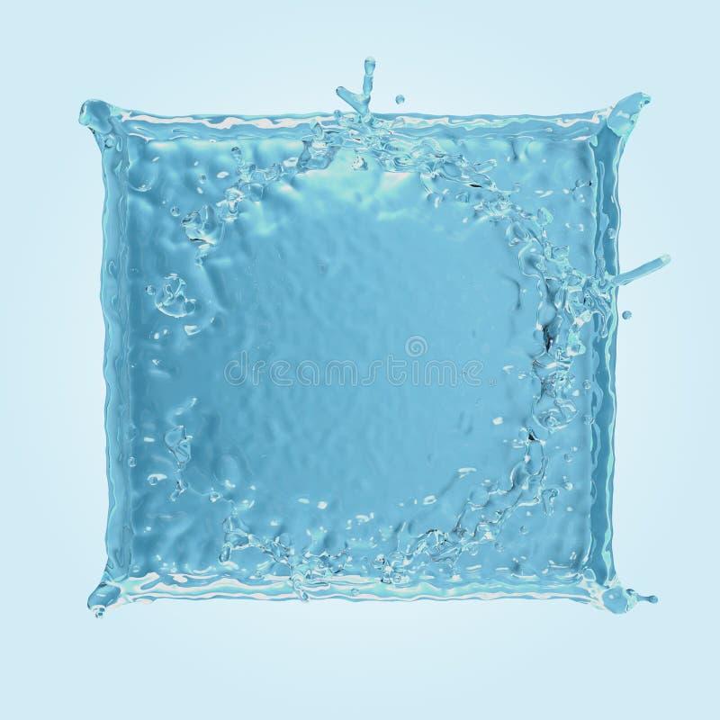 Respingo quadrado da água ilustração do vetor