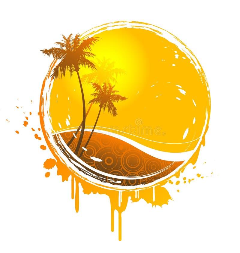 Respingo tropical do sol ilustração stock