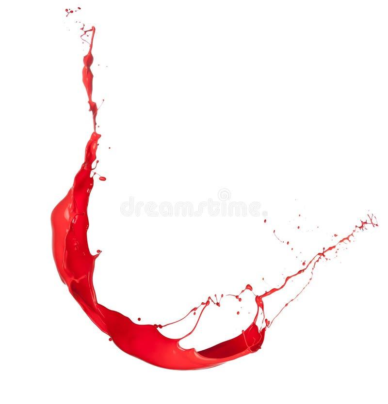 Respingo vermelho ilustração stock