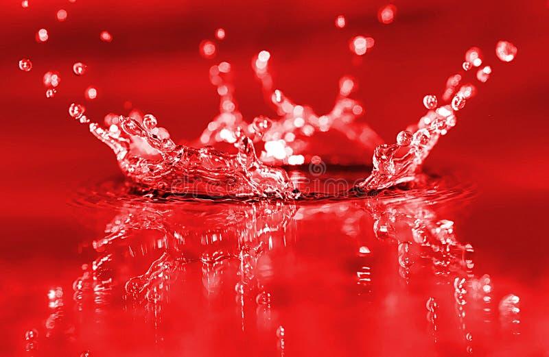 Respingo vermelho imagens de stock royalty free