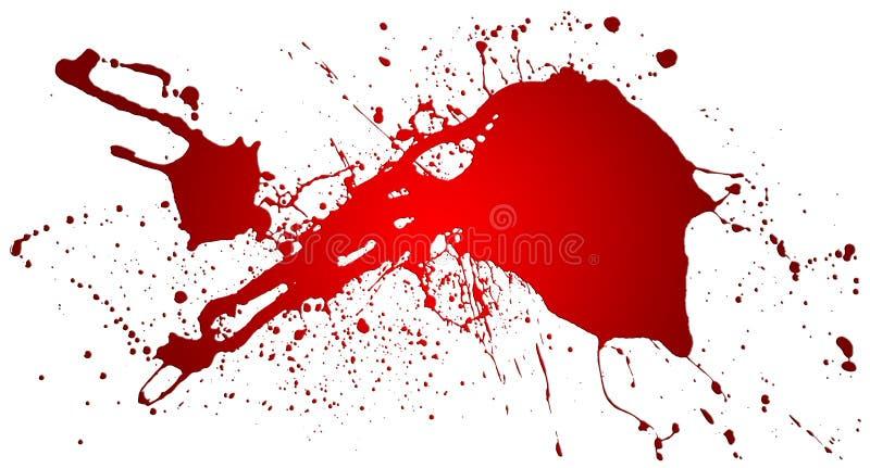 Respingo vermelho ilustração do vetor