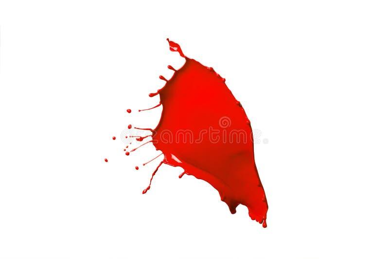 Respingo vermelho da pintura imagem de stock