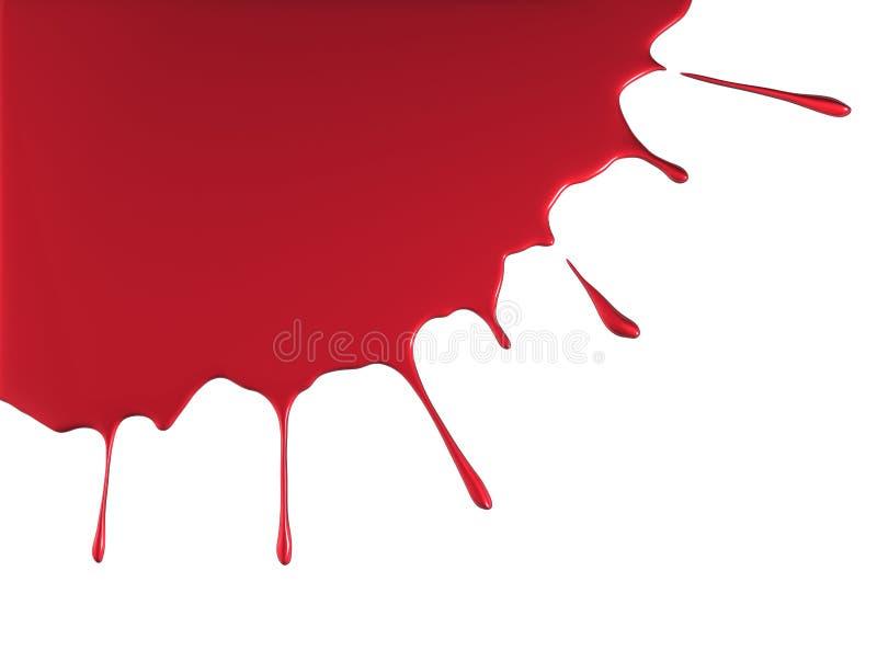Respingo vermelho da pintura ilustração do vetor
