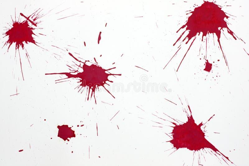 Respingo vermelho do sangue fotografia de stock