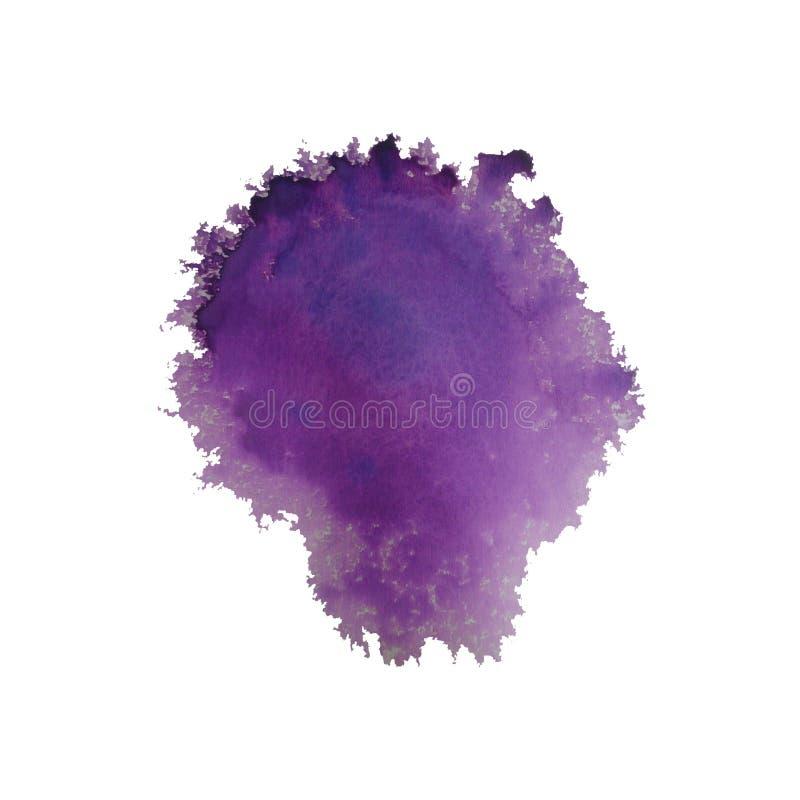 respingo violeta brilhante colorido do inclinação da aquarela ilustração stock