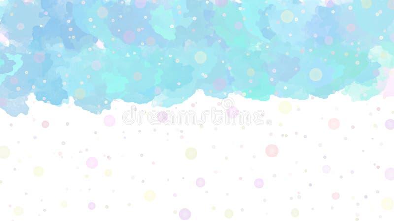Respingos e pontos coloridos abstratos da aquarela no fundo branco ilustração stock