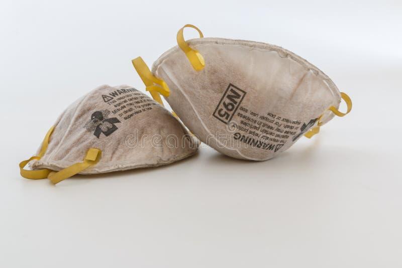 Respirador da proteção para a máscara protetora do filtro N95, proteção, com o uso da soldadura imagens de stock royalty free