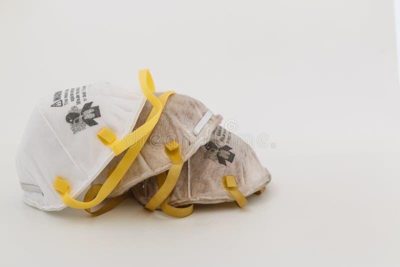Respirador da prote??o para a m?scara protetora do filtro N95, prote??o, com o uso da solda na ind?stria e no artigo novo imagens de stock royalty free