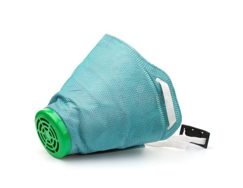 Respirador descartável verde fotografia de stock royalty free