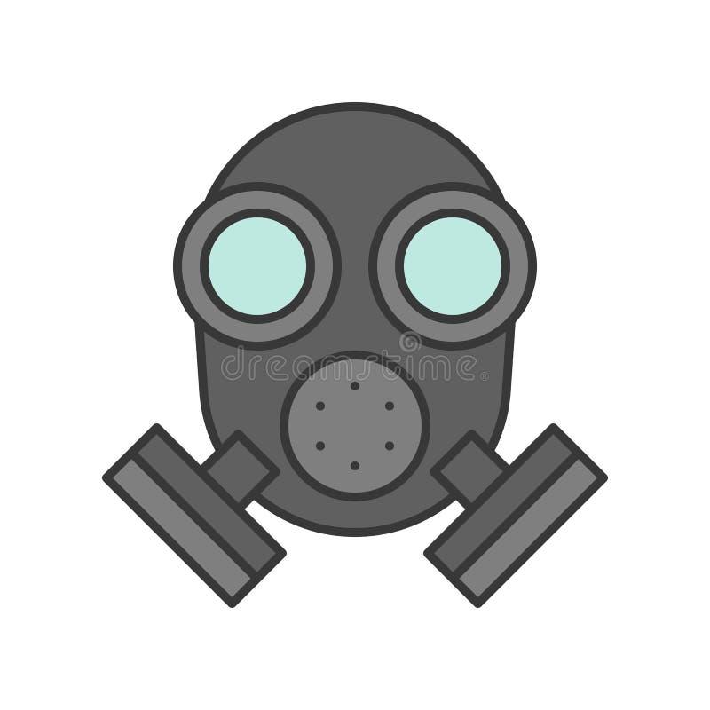 Respirador, esquema editable del movimiento del icono relacionado de la policía libre illustration