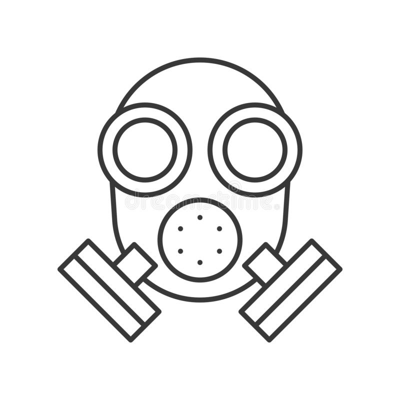 Respirador, esquema editable del movimiento del icono relacionado de la policía stock de ilustración