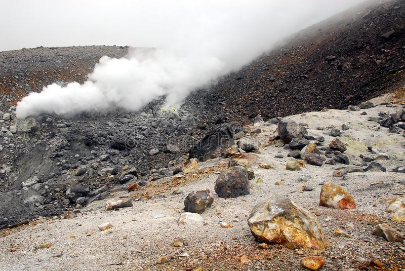 Respiradouro vulcânico imagens de stock