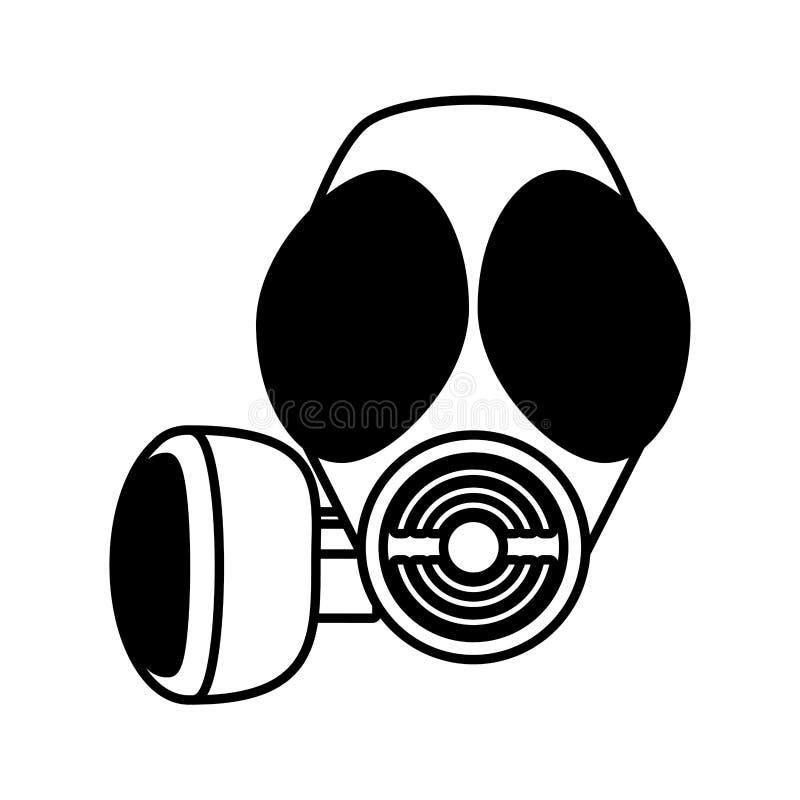 Respiration de masque de gaz d'ensemble protectrice illustration de vecteur
