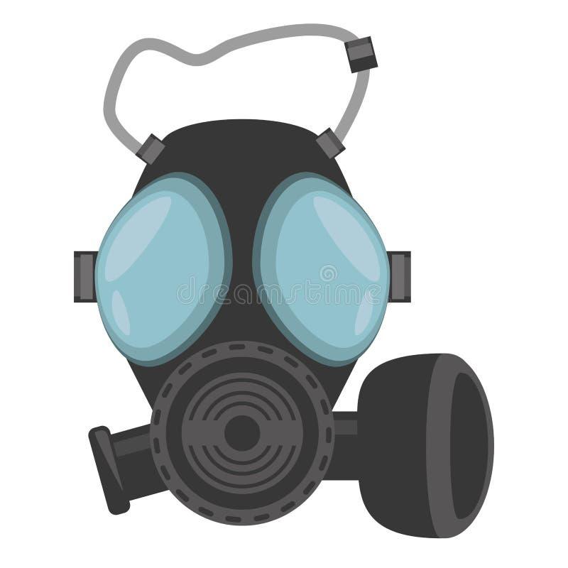 Respiration de masque de gaz protectrice illustration stock