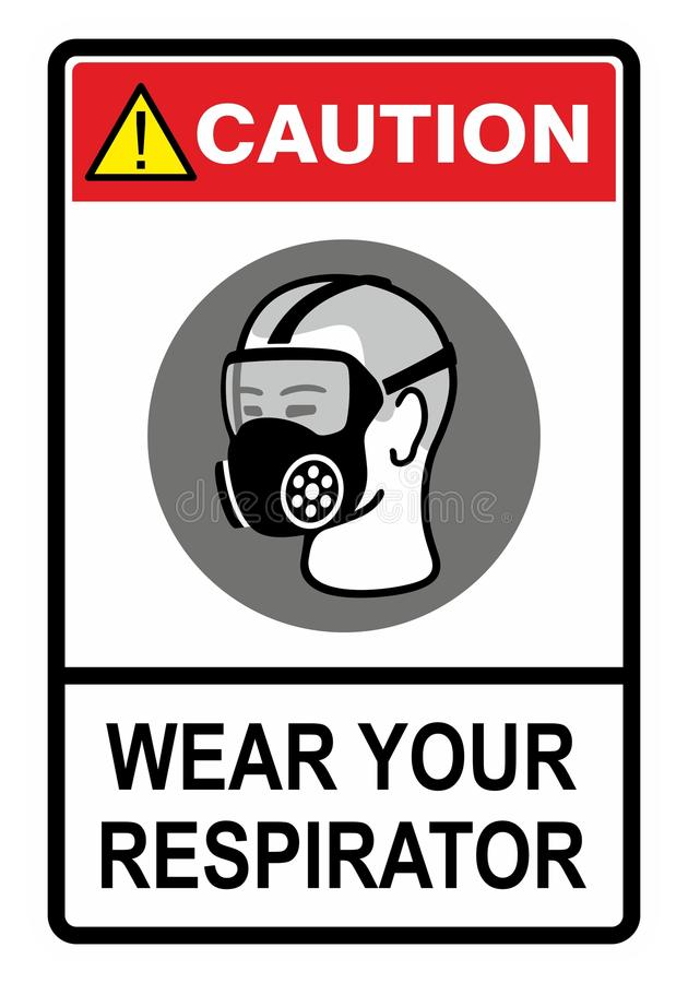Respirator royalty free illustration