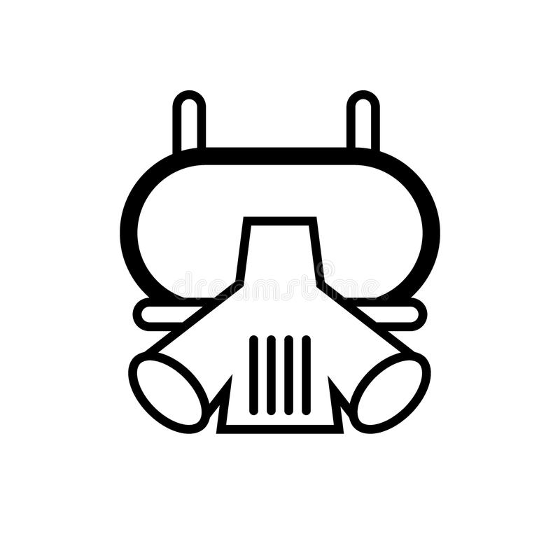 Respirator, Gas mask, Fireman protection line icon. vector illustration isolated on white. outline style design royalty free illustration