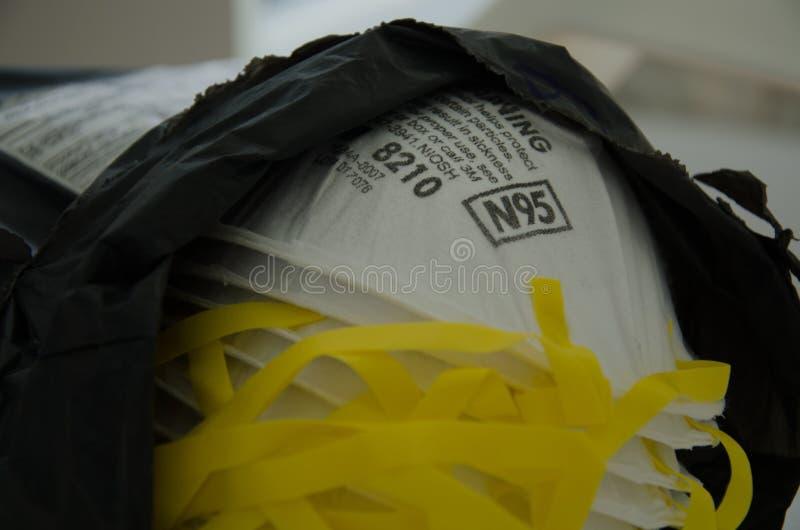 Respiratorisk maskering f?r typ N95 royaltyfri fotografi