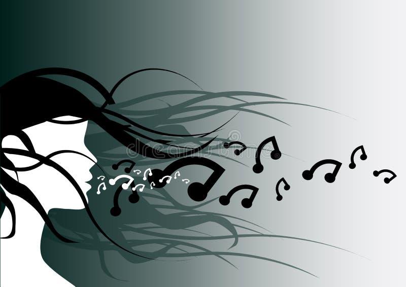 Respire la música stock de ilustración