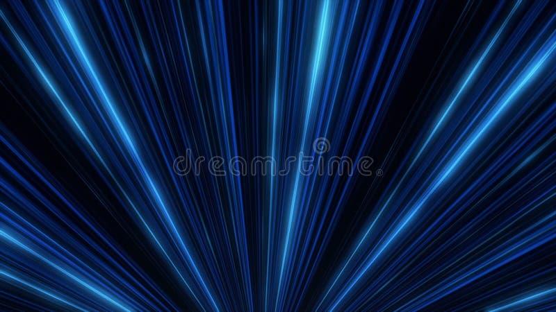 Resplandor de ne?n abstracto de las l?neas del proyector animaci?n Demostraci?n de la luz del disco del laser en fondo negro Las  ilustración del vector
