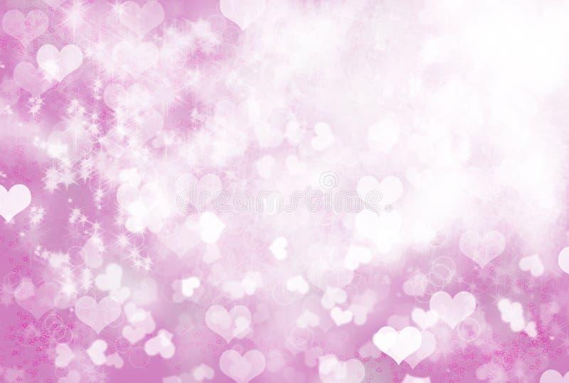 Resplandor del amor - fondo de los corazones de la chispa ilustración del vector