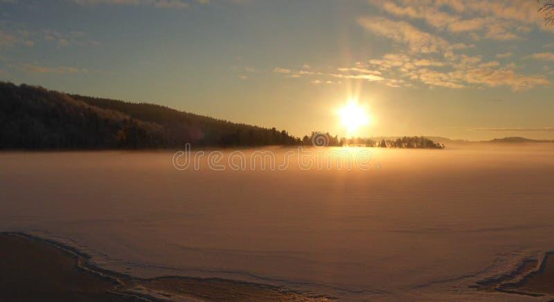 Resplandor del invierno fotografía de archivo libre de regalías