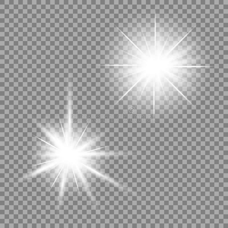 Resplandor ligero brillante en un fondo transparente Ilustración del vector para su agua dulce de design libre illustration