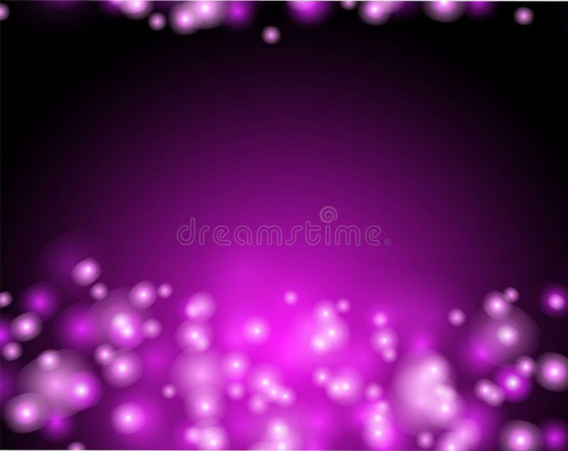 Resplandor rosado abstracto detr stock de ilustración