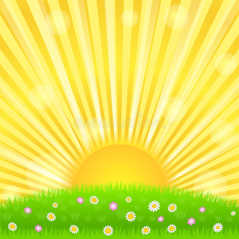 Resplandor solar ilustración del vector
