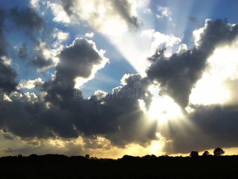 resplandor solar fotos de archivo