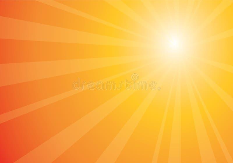 Resplandor solar anaranjado hermoso stock de ilustración