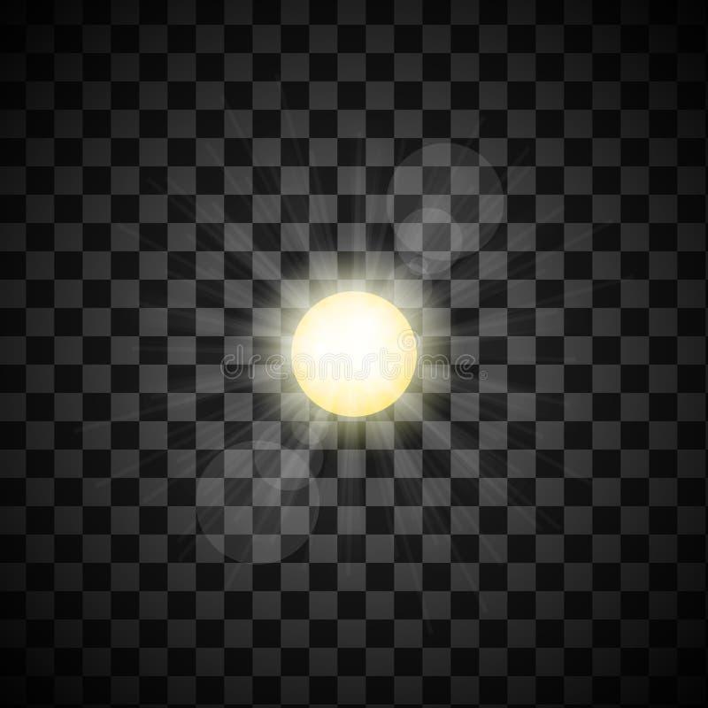 Resplandor solar del vector stock de ilustración
