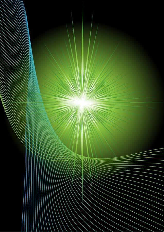 Resplandor solar especial (supernova) stock de ilustración