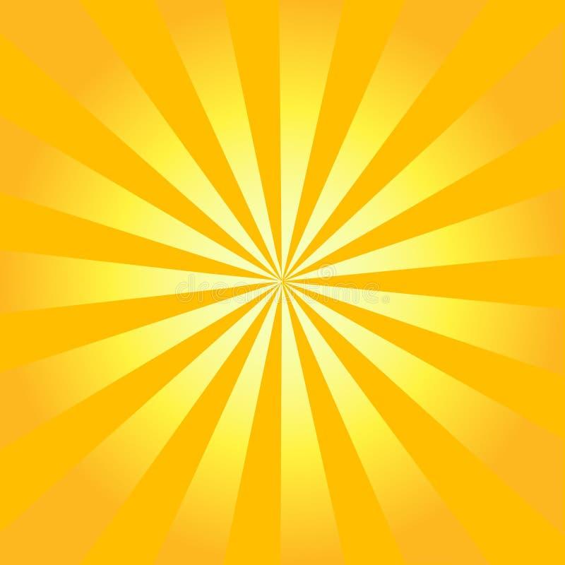 Resplandor solar retro del vector ilustración del vector