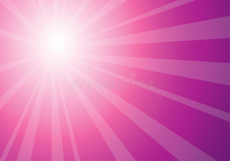 Resplandor solar rosado hermoso ilustración del vector