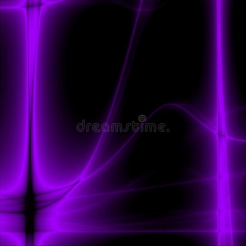 Resplandor violeta stock de ilustración